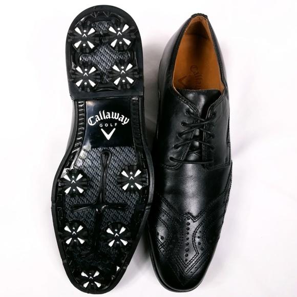 Mens Callaway Leather Wingtip Golf Shoe